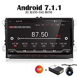 Android 6.0Quad Core WiFi Modell Auto DVD Player GPS 2DIN 22,9cm für Volkswagen VW SKODA Polo Passat B6CC Tiguan Golf 5Fabia Unterstützung Spiegel Link/OBD2/Subwoofer/Bluetooth (nicht DVD-Player)