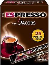 Jacobs Espresso Sticks 25raciones/paquete, 4unidades (4x 45g)