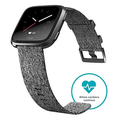 Fitbit Versa Edición Especial - Reloj Deportivo Unisex - Gris / Rosa - Talla S/P + L/G