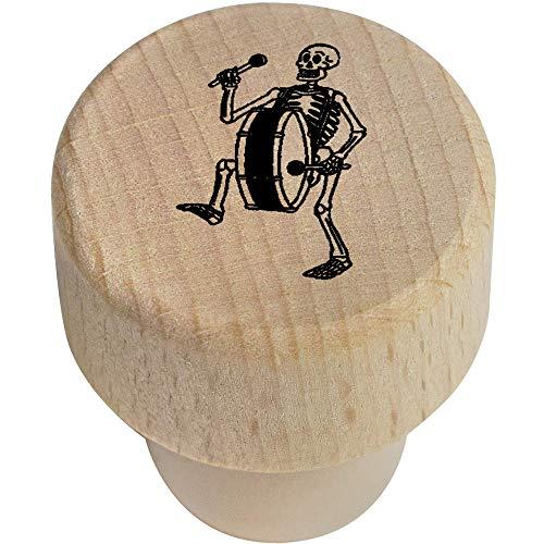 Azeeda 19mm \'Skelett mit Bassdrum\' Flaschenverschluss