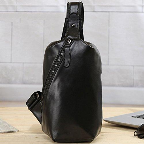 Everdoss Chest Bag Mens Chest Pack Borsa A Tracolla Crossbody Casual Piccola Per Il Viaggio Di Tutti I Giorni Nero