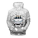 Photo de WEIYI BO maoyi Unisex Pullover Hoodie 3D Print Brick Wall and Car Series Hooded Sweatshirts par WEIYI BO maoyi