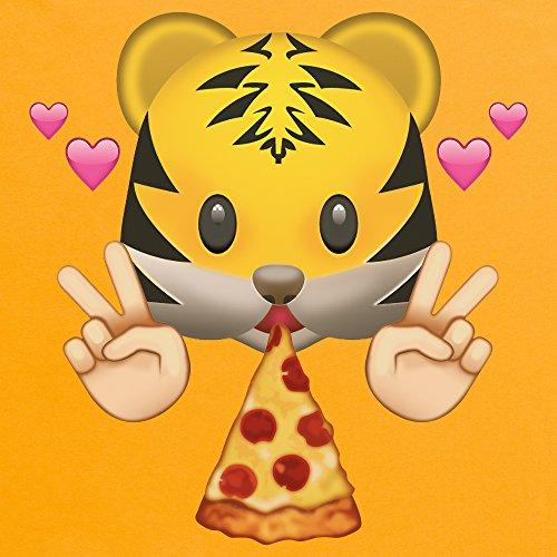 Official Two Tribes Emoji - Pizza Tiger T-Shirt, Herren Gelb