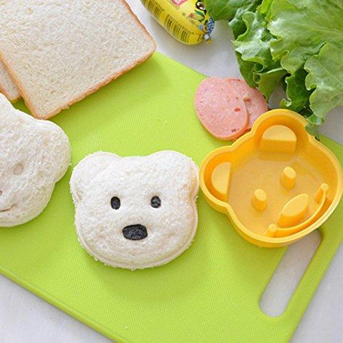 HKFV Kinder Bär geformt Sandwich Crust Cutter Mould Stempel Mittagessen Bear Sandwich-Form