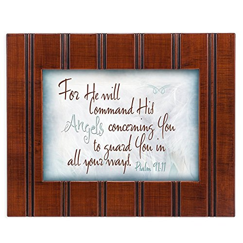Cottage Garden Wandschild, Motiv: Angels Guard You Psalm 91:11, 20,3 x 25,4 cm (Landwirtschaft Gerahmte Kunst)