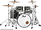 Batteries acoustiques PEARL DRUMS MCT904XEPC-339 - MASTER MAPLE COMPLETE 4F FUSION 20 MATTE CAVIAR BLACK Batteries Fusion 20'