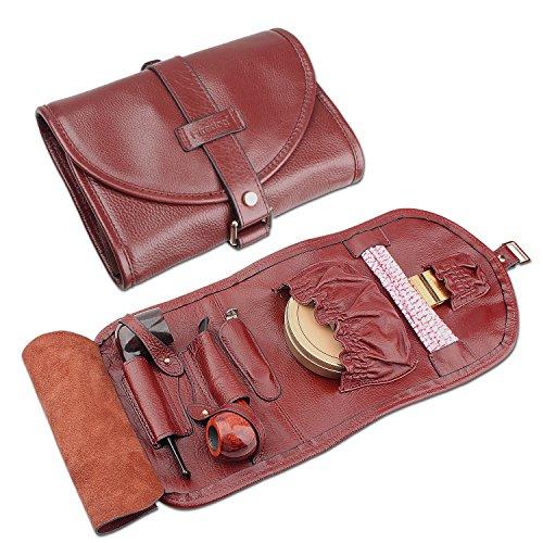 Organizar caso bolsa piel alta calidad Fumar pipa