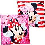 alles-meine.de GmbH Kissen / Schmusekissen / Sitzkissen -  Disney - Minnie Mouse  - Kuschelkissen - Mikrofaser - 40 cm * 40 cm - groß - beidseitig Bedruckt - sehr weich - für M..