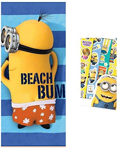 Minions–Toalla de playa 70 x 140 cm