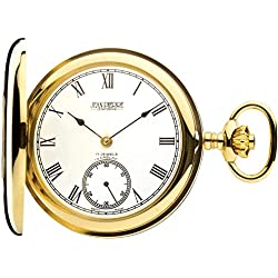 9ct Gold Pocket Watch Polished Half Hunter - 17 Jewel Movement