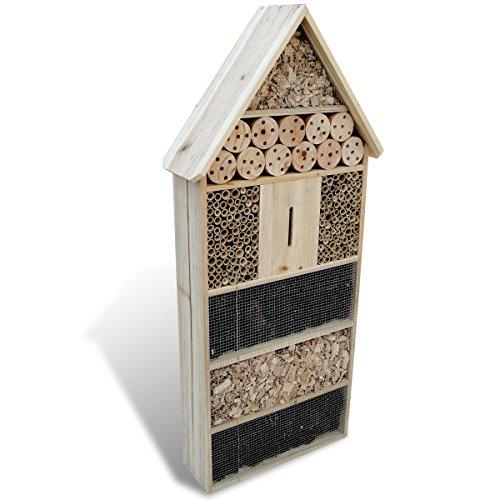 vidaXL XXL Insektenhotel Holz Bienen Insektenhaus Nistkasten Brutkasten 100 cm