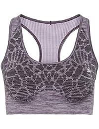 9fd4e10f73 ODLO Women Blackcomb Seamless Medium Sports Bra Women Running Clothes Sports  Bras Violet - Lilac L