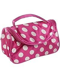 Bolsa de cosméticos, bolsa de maquillaje cosmética de viaje multifunción Organizador de lavado Caja de almacenamiento rosa