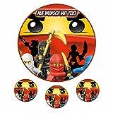 Tortenaufleger Fototorte Oblate Tortenbild Geburtstag eßbar Motiv: Lego Ninjago 15 (Oblatenpapier)