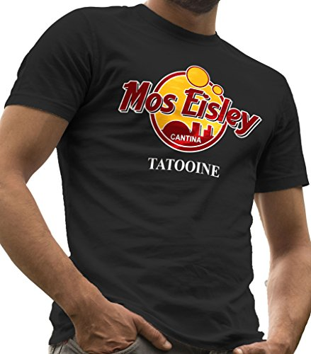 Star Wars - Mos Eisley Cantina Tatooine T-Shirt LeRage, Herren, MOS-Cantina-Guys-Large, Schwarz, L