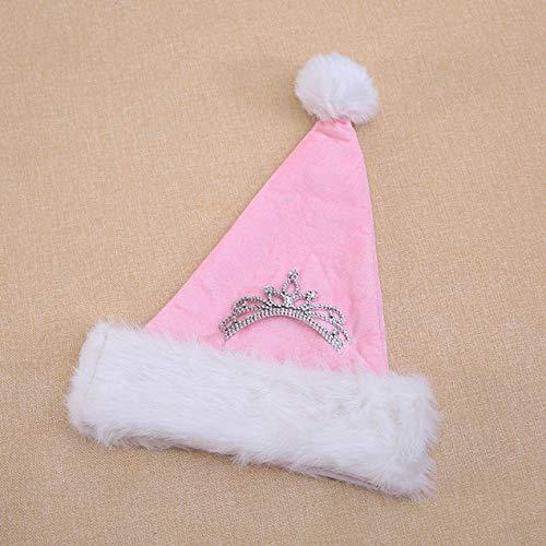 Dooret Prinzessin King Pink Crown Cap für Weihnachten Halloween Kindertag Weihnachtskostüm 30 * 40cm Haarschmuck