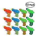 TOYMYTOY Acqua pistola Squirt pistola di plastica per bambini confezione da 12 (colore casuale)