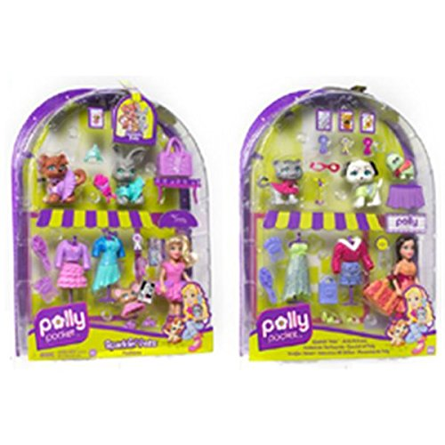 mattel-m4050-poupee-polly-pocket-habillage-amis-animaux-polly