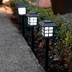 Set of 6 White LED Solar Lantern Gard...