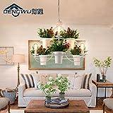 BBSLT Italia art design scandinavo creative illuminazione della stanza da pranzo lampadario in camera per le piante in vaso pot ciondolo 870*670mm , DW-D0737-3+3 doppia bianca