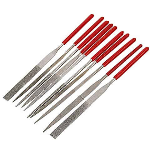 MASUNN 10Pcs Combination Package Assorted Trim File Fichier Triangulaire 140mm