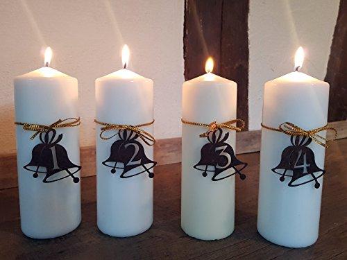 Manufakt-Design Franken Edelrost Adventskranz Zahlen 1-4 in Form Einer Glocke - Wunderschöner Rost-Bastel-Artikel für Einzigartige Adventskerzen