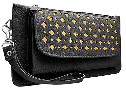 Tap Fashion Fancy Stylish Elegance Fashion Synthetic Black Handmade Wallet/ Clutch/ Purse for Girls and Women.  available at amazon for Rs.298