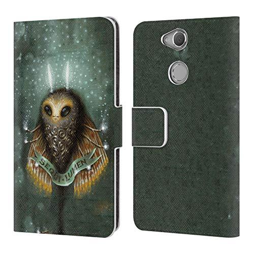 Head Case Designs Offizielle Jason Limon Avantgarde Licht Aliens Brieftasche Handyhülle aus Leder für Sony Xperia XA2