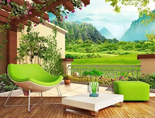 Minyose Custom 3D Wallpaper Home Decor Background Mural Court Landscape Paintings TV Background Wall mural 3D wallpaper-250cmx175cm