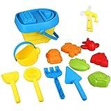 Peradix Sandspielzeug Set Wasserspieltisch Sandspieltisch Sandschaufel Sandmuschel Krake Seesterne Kinder Baby Beach Strand Spielzeug (Boot Fässer)