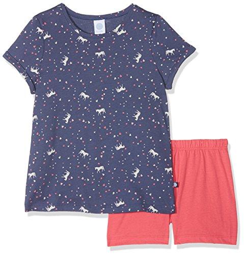 Sanetta Mädchen Zweiteiliger Schlafanzug 232089 Short, Blau (Blue Indigo 50020), 104