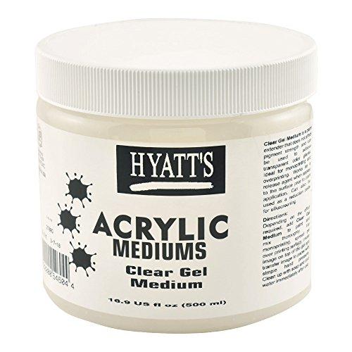 Hyatt's Acrylic Clear Gel Medium, 16 Ounce Bottle, 1 Each -