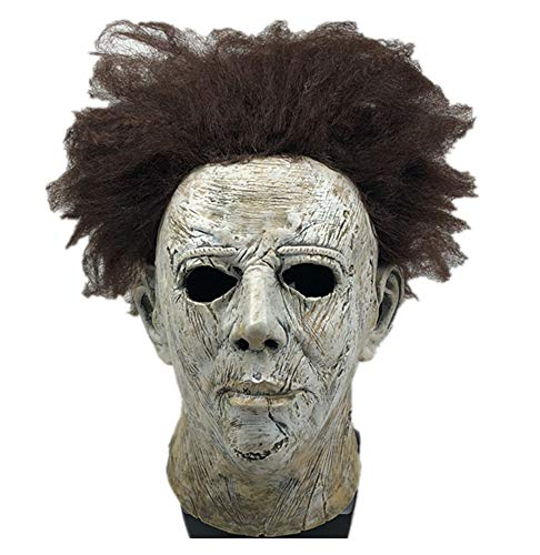 Yacn Film Halloween 2018 Michael Myers Maske mit Beauty Hair, Overhead Maske Adult Cosplay (Mit Halloween Michael Myers)