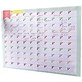 3 feuilles plan papier 100 jours compte à rebours calendriers muraux journaliers hebdomadaires mois planificateur objectifs organisateur pour le travail/étude/perdre
