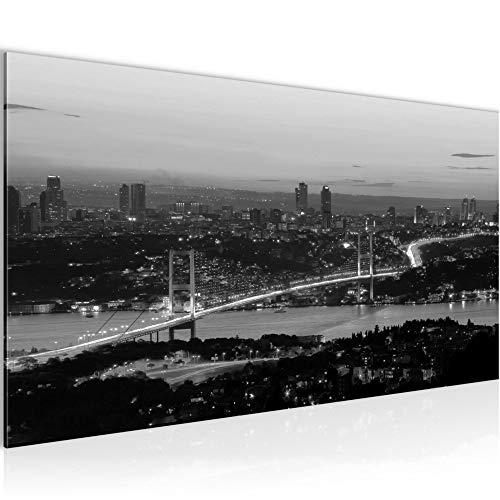 Bilder Istanbul Türkei Wandbild 100 x 40 cm Vlies - Leinwand Bild XXL Format Wandbilder Wohnzimmer Wohnung Deko Kunstdrucke Weiß 1 Teilig - Made IN Germany - Fertig zum Aufhängen 603812c