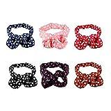 LHKJ 6 Stück Haarband Draht Stirnband elastischen Dehnung Haarschmuck Haarhalter Polka Dots für Damen