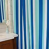 BMKY Patrón de rayas azules y blancas clásicas impermeable espesamiento moho cortinas de baño cortinas colgantes Cortinas de ducha ( Tamaño : 200*180cm )