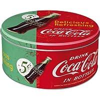 Nostalgic-art 30603Coca-Cola–Delicious Refreshing Green barattolo rotondo L, diametro 21cm