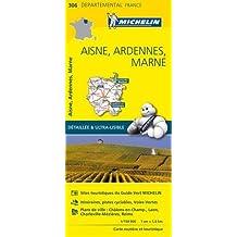 Carte Aisne, Ardennes, Marne Michelin