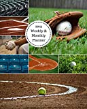 2019 Weekly and Monthly Planner: Baseball Softball  Collage Daily Organizer -To Do -Calendar in Review/Monthly Calendar with U.S. Holidays-Notes Volume 44