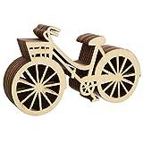 Dosige 10 Pezzi abbellimenti in Legno Decorato a Forma di Bicicletta di Legno Chip Design Vuoto per Artigianato Fai da Te