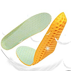 Aeoss 1 pair Stretch Breathable Deodorant Shoes Running Insoles Cushion Insert Pad (Yellow, 40)