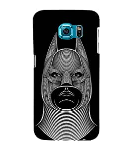 Fuson Designer Back Case Cover for Samsung Galaxy S6 Edge+ :: Samsung Galaxy S6 Edge Plus :: Samsung Galaxy S6 Edge+ G928G :: Samsung Galaxy S6 Edge+ G928F G928T G928A G928I (Face Evil Face Face With Horns Two Horned Face Men Face)