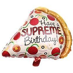 BESTOYARD Aluminiumfolie Ballon Pizza Form Luftballon für Geburtstags Feiern Summer Thema Party Dekoration