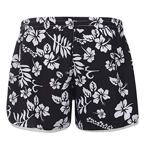 Viewk Femmes Multicolore Hot Casual Nouveaux Pantalons Chauds à imprimé Floral Pantalons de Plage Shorts