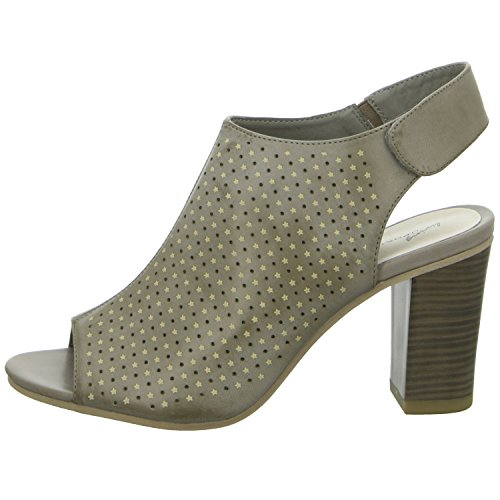 living Updated 1S056-30 Damen Sandalette eleganter Boden Grau (Grau)