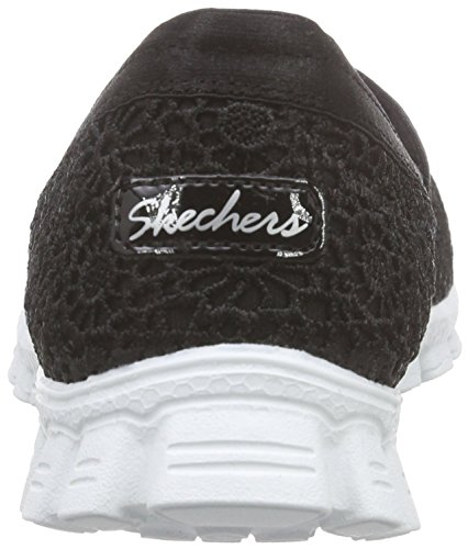 Skechers Ez Flex 2 - Make Believe, Mocassini Donna Nero (bkw)
