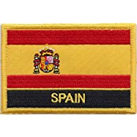 Spain Flag Embroidered Rectangular Patch Badge / Sew On Or Iron On - Exclusive Design From 1000 Flags