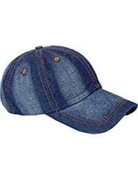 962ddb5ac8c FRIENDSKART Self Design Unique Design In Denim Baseball Cap for Boys And  Girls Cap