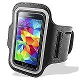 Bingsale Samsung Galaxy S5 / Samsung Galaxy S5 Neo Original Neoprene Deluxe Dual Fit Easy Fit Freizeit und Sport Armband Armtasche in Schwarz